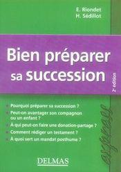 Bien préparer sa succession (2e édition) - Intérieur - Format classique