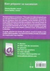 Bien préparer sa succession (2e édition) - 4ème de couverture - Format classique