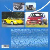 Les Renault Sportives De Serie - 4ème de couverture - Format classique