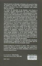 Le féminin dans l'art occidental ; histoire d'une disparition - 4ème de couverture - Format classique