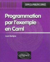Programmation Par L'Exemple En Caml Exemples & Problemes Corriges - Intérieur - Format classique