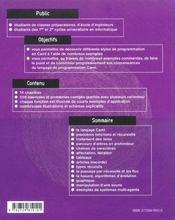 Programmation Par L'Exemple En Caml Exemples & Problemes Corriges - 4ème de couverture - Format classique
