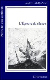 L'épreuve du silence - Couverture - Format classique