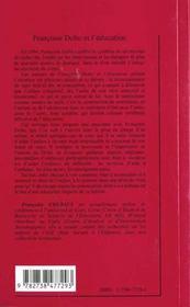 Françoise Dolto et l'éducation - 4ème de couverture - Format classique