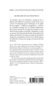 Les brumes de san francisco - 4ème de couverture - Format classique