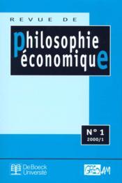 Revue De Philosophie Economique N.1 - Couverture - Format classique
