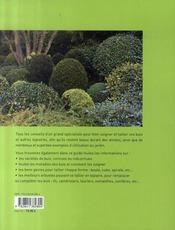Buis et autres topiaires - 4ème de couverture - Format classique