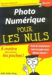 Photo numerique pour les nuls - Intérieur - Format classique