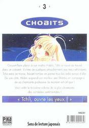 Chobits t.3 - 4ème de couverture - Format classique