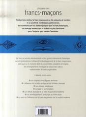 L'énigme des francs-maçons - 4ème de couverture - Format classique