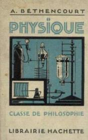 Physique, classe de philosophie - Couverture - Format classique