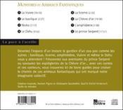 Monstres et animaux fantastiques - 4ème de couverture - Format classique