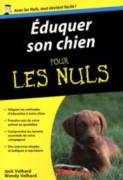 Éduquer son chien poche pour les nuls - Couverture - Format classique
