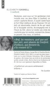 Cranford - 4ème de couverture - Format classique