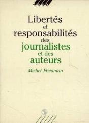 Libertes Et Responsabilites Journal. - Couverture - Format classique