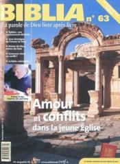 Amour Conflits Eglise Bib63 - Couverture - Format classique