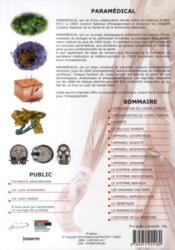 Paramedical technifiches de travail - anatomie, physiologie, pathologie, pharmacologie et etymologie - 4ème de couverture - Format classique