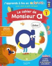 Le cahier de Monsieur A niv.1 - Couverture - Format classique