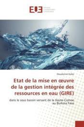 Etat de la mise en oeuvre de la gestion integree des ressources en eau (gire) - dans le sous bassin - Couverture - Format classique