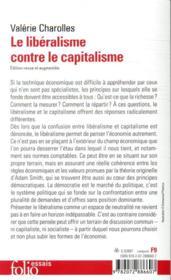 Le libéralisme contre le capitalisme - 4ème de couverture - Format classique