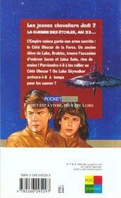 Les Cadets De L'Ombre T.2 - 4ème de couverture - Format classique