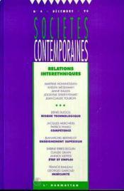 Societes Contemporaines T.4 ; Relations Interethniques - Couverture - Format classique