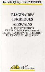 Imaginaires juridiques africaines - Couverture - Format classique
