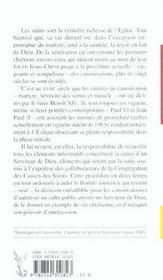 La Saintete Canonisee - 4ème de couverture - Format classique