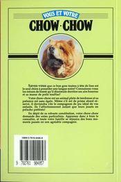 Vous Et Votre Chow Chow - 4ème de couverture - Format classique