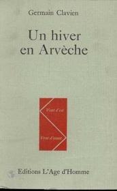 Un Hiver En Arveche - Couverture - Format classique