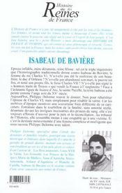 Isabeau De Baviere - 4ème de couverture - Format classique