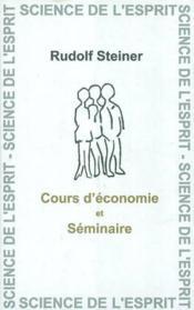 Cours D'Economie Et Seminaire - Couverture - Format classique