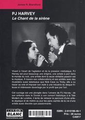 PJ Harvey ; le chant de la sirène - 4ème de couverture - Format classique