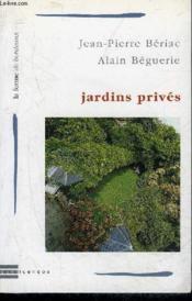Jardins Prives - Couverture - Format classique
