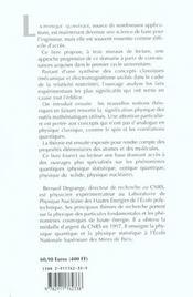 Introduction a la physique quantique (science de la matiere - les cours) - 4ème de couverture - Format classique