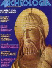 Archeologia n°100, novembre 1976 - Couverture - Format classique