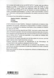 Mathématiques ; cours, exercices, informatique ; BCPST véto (2e année) - 4ème de couverture - Format classique