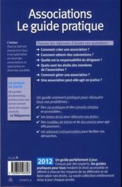 Associations ; le guide pratique (édition 2012) - 4ème de couverture - Format classique