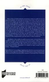 Ceux qui restent ; une sociologie du deuil - 4ème de couverture - Format classique