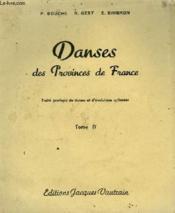 Danses Des Provinces De France - Tome 4 - Couverture - Format classique