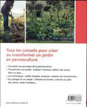 La permaculture au jardin ; principes, techniques et mise en oeuvre - 4ème de couverture - Format classique