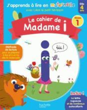 Le cahier de Madame i niv. 1 - Couverture - Format classique