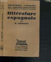 Litterature Espagnole - Bibliotheque Catholique Des Sciences Religieuses - Couverture - Format classique