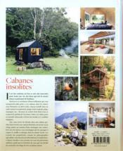 Cabanes insolites ; l'art de vivre des nouveaux Robinsons - 4ème de couverture - Format classique