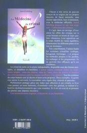 La médecine du cristal - 4ème de couverture - Format classique