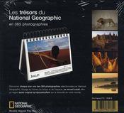 Calendrier perpétuel « les trésors du National Geographic en 365 photographies » - 4ème de couverture - Format classique