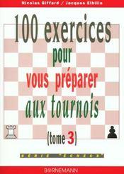100 Exercices Pour Vous Preparer Aux Tournois - Intérieur - Format classique