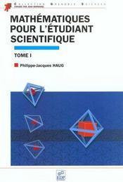 Mathematiques pour l'etudiant scientifique t.1 - Intérieur - Format classique