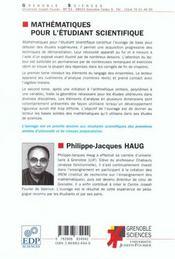 Mathematiques pour l'etudiant scientifique t.1 - 4ème de couverture - Format classique