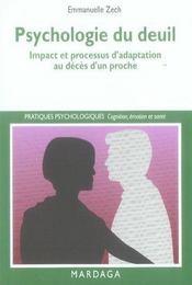 Psychologie du deuil ; impact et processus d'adaptation au décès d'un proche - Intérieur - Format classique